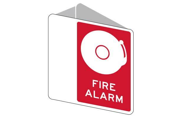 3D Fire Alarm With Bell Sign