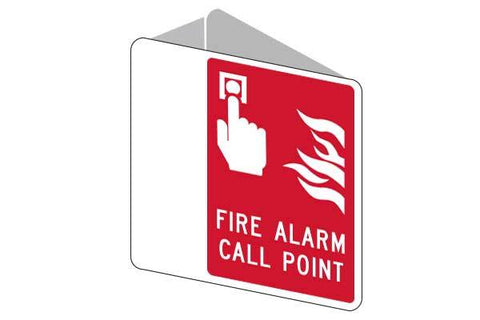 3D Fire Alarm Call Point Sign
