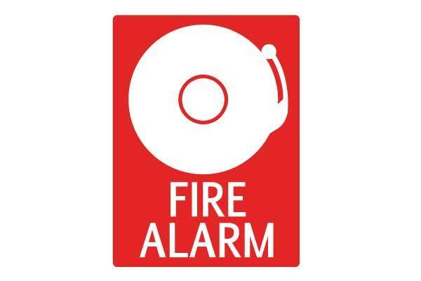 Fire Alarm With Bell Sign