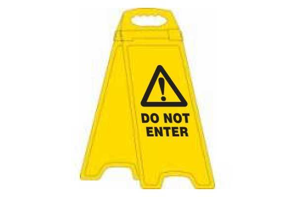 Do Not Enter Deluxe Double Sided Floor Stand