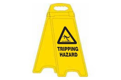 Tripping Hazard Deluxe Double Sided Floor Stand