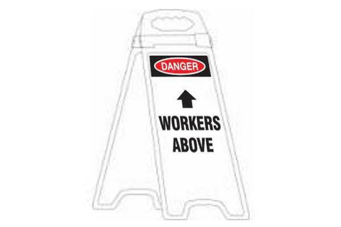 Danger Workers Above Deluxe Double Sided Floor Stand