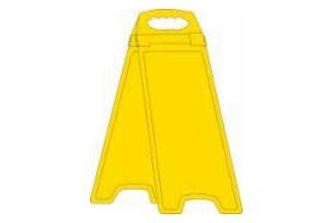 Custom Yellow Deluxe Double Sided Floor Stand