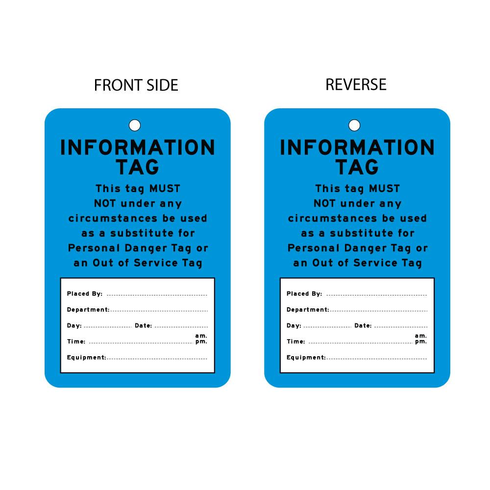 Information Tag  (packs of 10)