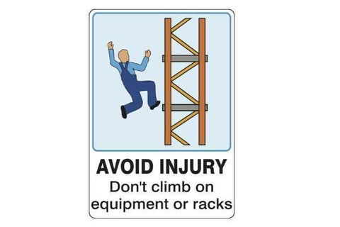 Notice Avoid Injury Don't Climb On Equipment Or Racks
