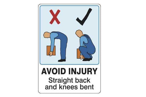 Notice Avoid Injury Straight Back And Knees Bent