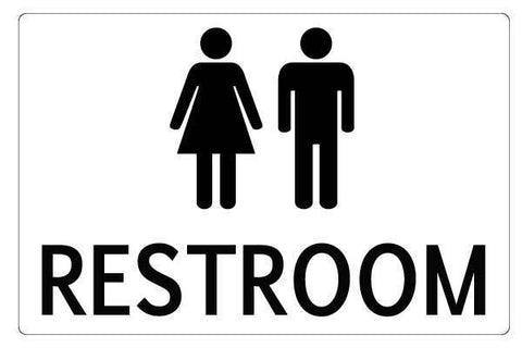 Notice Restroom Male And Female