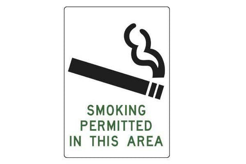 Notice Smoking Permitted In This Area