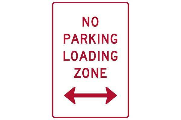 Parking Sign No Parking Loading Zone Left Or Right Of This Sign