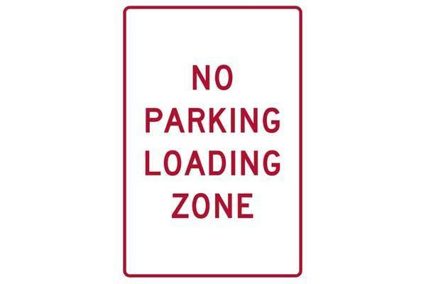 Parking Sign No Parking Loading Zone
