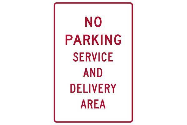 Parking Sign No Parking Service And Delivery Area Sign