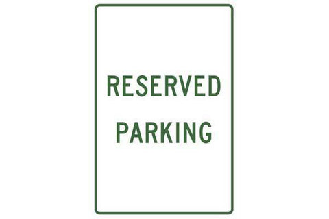 Parking Sign Reserved Parking
