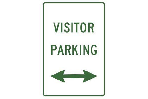 Parking Sign Visitor Parking Left And Right of Sign
