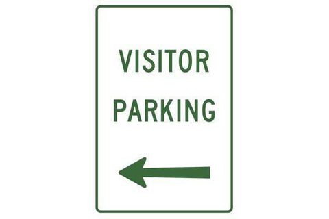 Parking Sign Visitor Parking Left