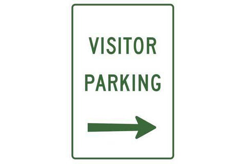 Parking Sign Visitor Parking Right