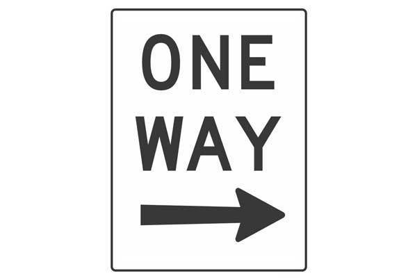 Traffic Control One Way Right Sign