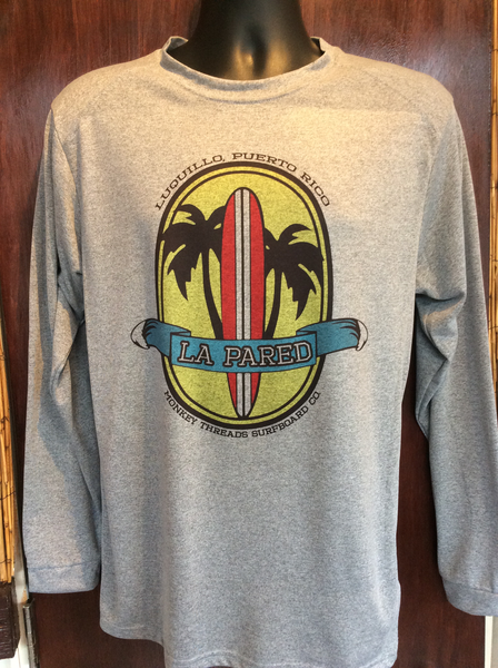 Mens La Pared Surfboard Long Sleeve Microfiber Grey