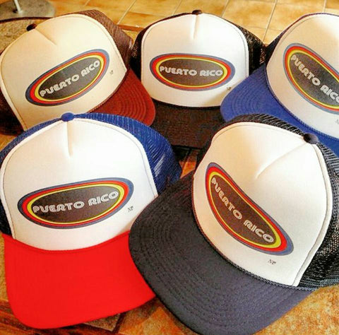 Retro Puerto Rico Trucker Hats