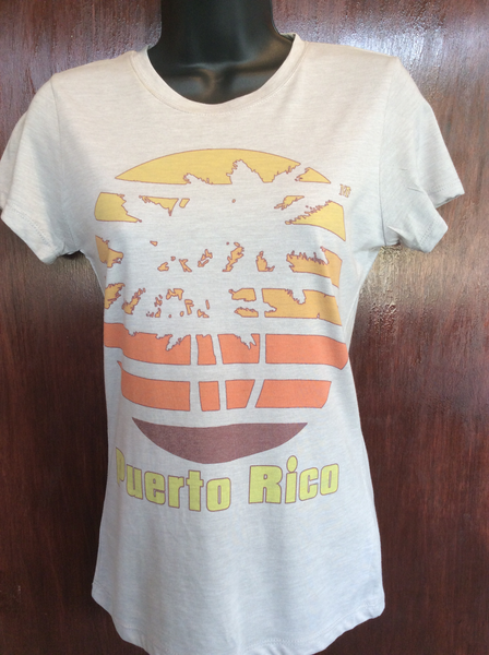 Womens Retro Tri-Palm Tee