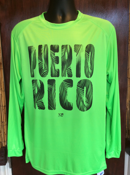 Mens Puerto Rico Palm Microfiber Long Sleeve