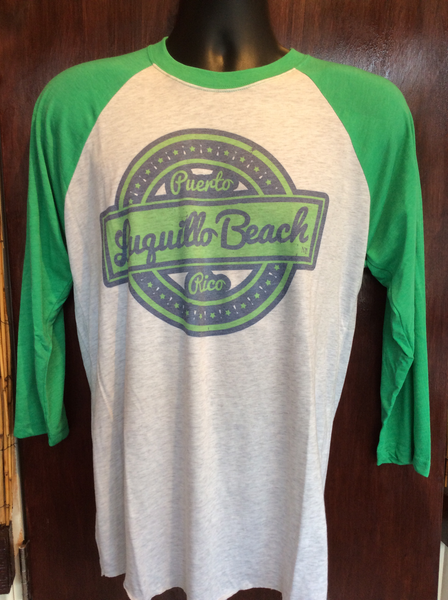 Mens / Womens Luquillo Beach Retro Green Raglan