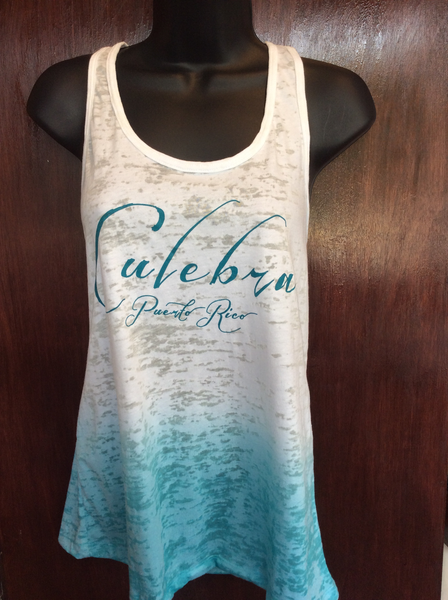 Womens Culebra Turquise Ombre Tank