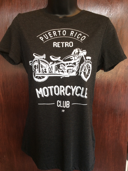 Womens Retro Motorcle Club Tee