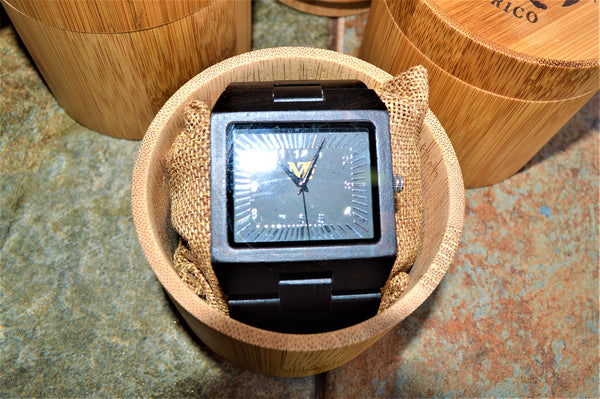 Men's Large Ebony Wood Watch
