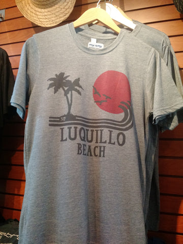 Luquillo Beach Sunset Tee - Heathered Navy
