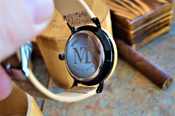 Women's Bamboo Wood and Cork Leather Watch