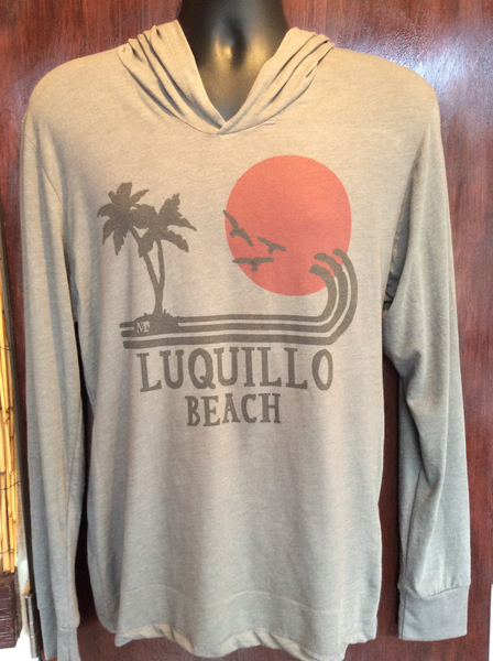 Mens/Womens Luquillo Beach Red Sun Hoodie