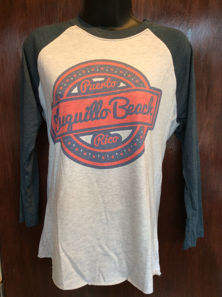 Mens/Womens Luquillo Beach Retro Blue Raglan