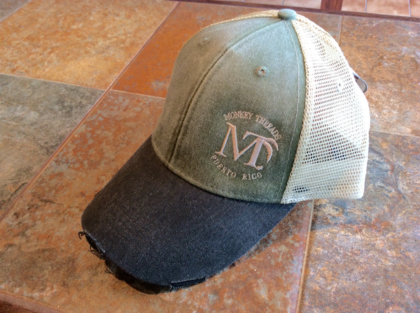 Distressed Cap Olive/Black