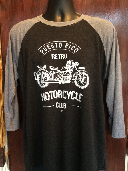 Mens / Womens  Retro Motorcycle Club Raglan