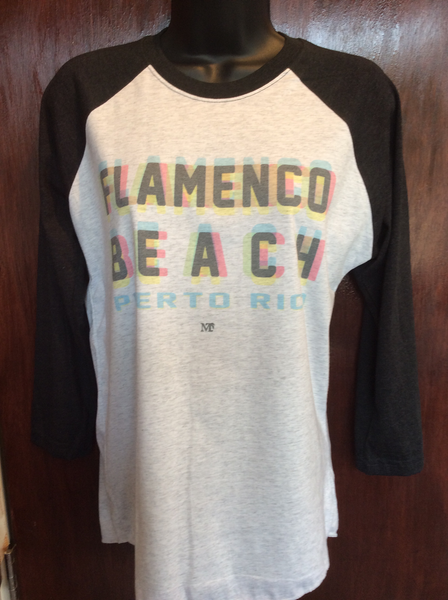 Mens/Womens Flamenco Beach Technocolor Raglan