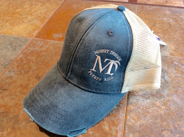 Distressed Cap Navy