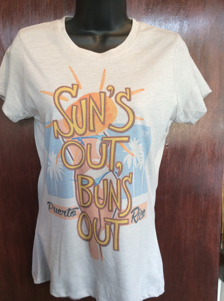 "Womens ""Suns out, Buns out"" Tee"