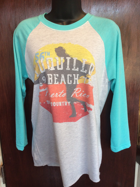 Mens/Womens Luquillo Beach Surfer 56 Raglan