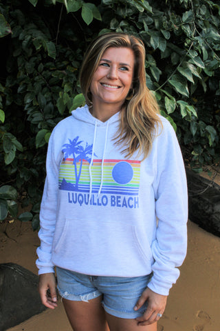 Luquillo Beach Rainbow Sunset Hoodie