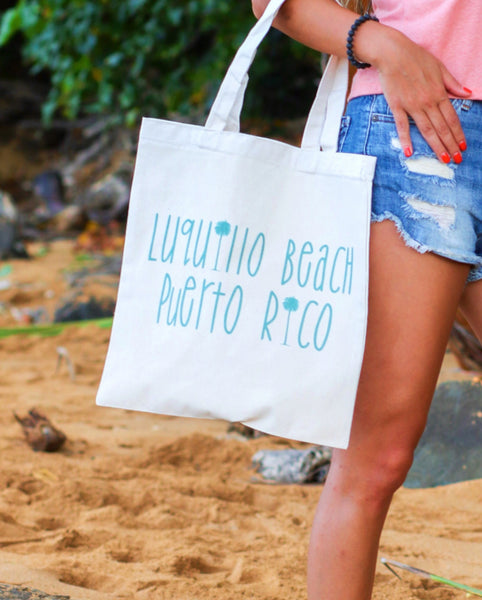 Luquillo Beach Palm Tote