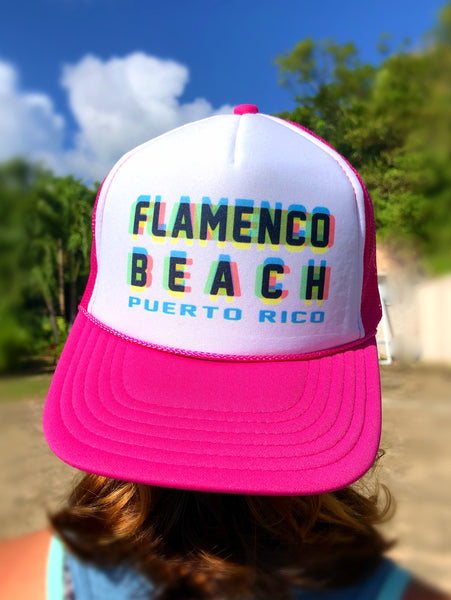Flamenco Beach Technicolor Cap Pink