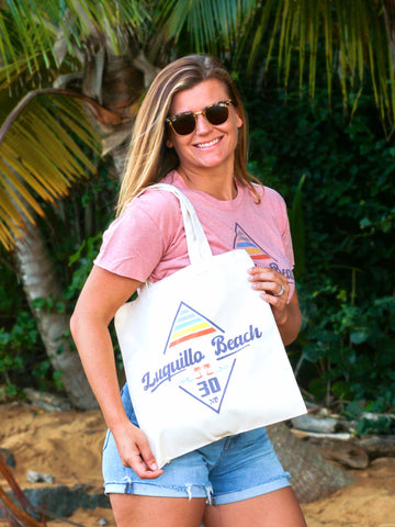 Luquillo Beach Diamond Tote Bag