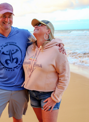 Luquillo Beach Diamond Crop Hoodie