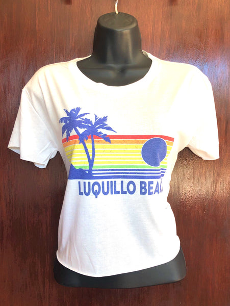 Luquillo Beach Rainbow Crop Top