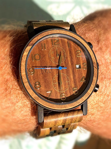 Bamboo, Sandalwood and Ebony Chronograph Wood Watches