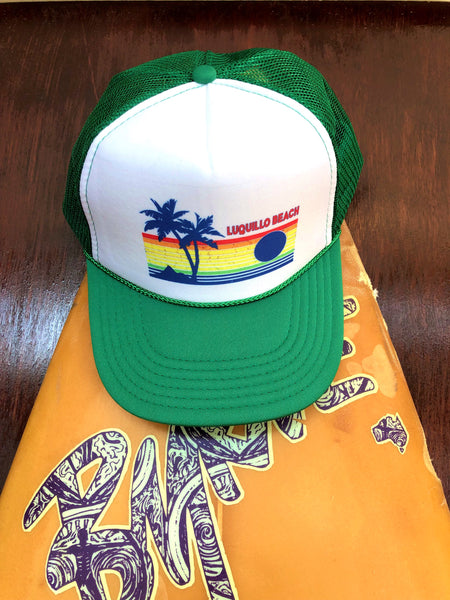 Green Luquillo Beach Rainbow Cap