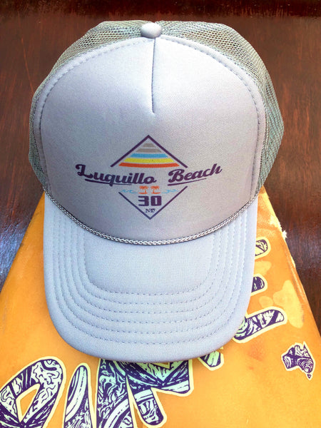Luquillo Beach Retro Diamond Cap Grey