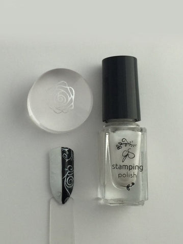 #34 Angelic White - Nail Stamping Color