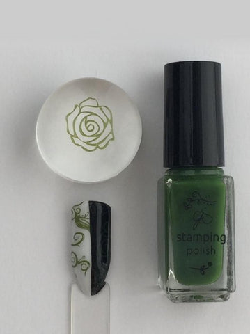 #38 Mystic Moss - Nail Stamping Color