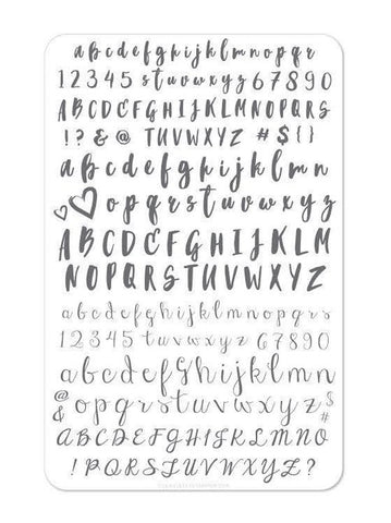 Alphabet - Brush (CJS-40)